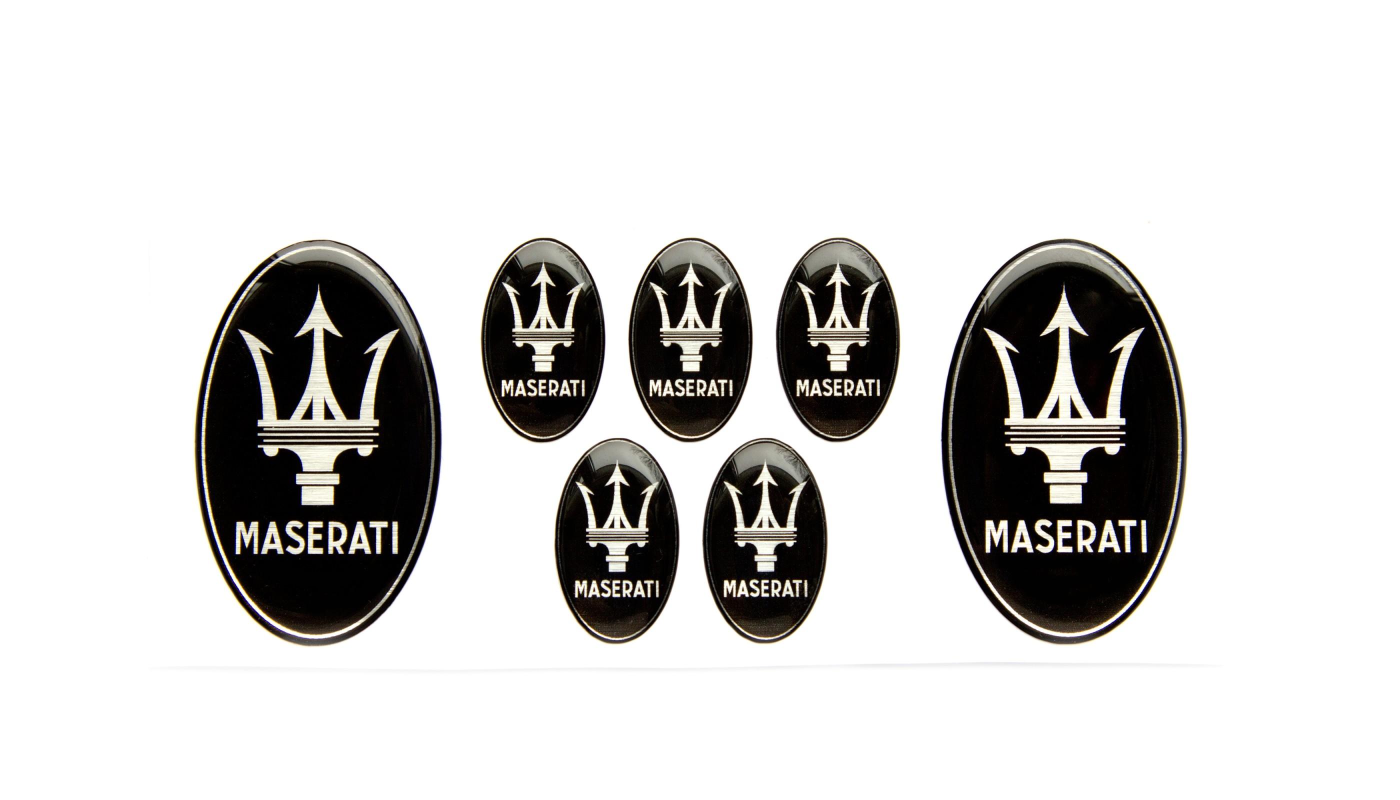 Maserati Domed Emblems