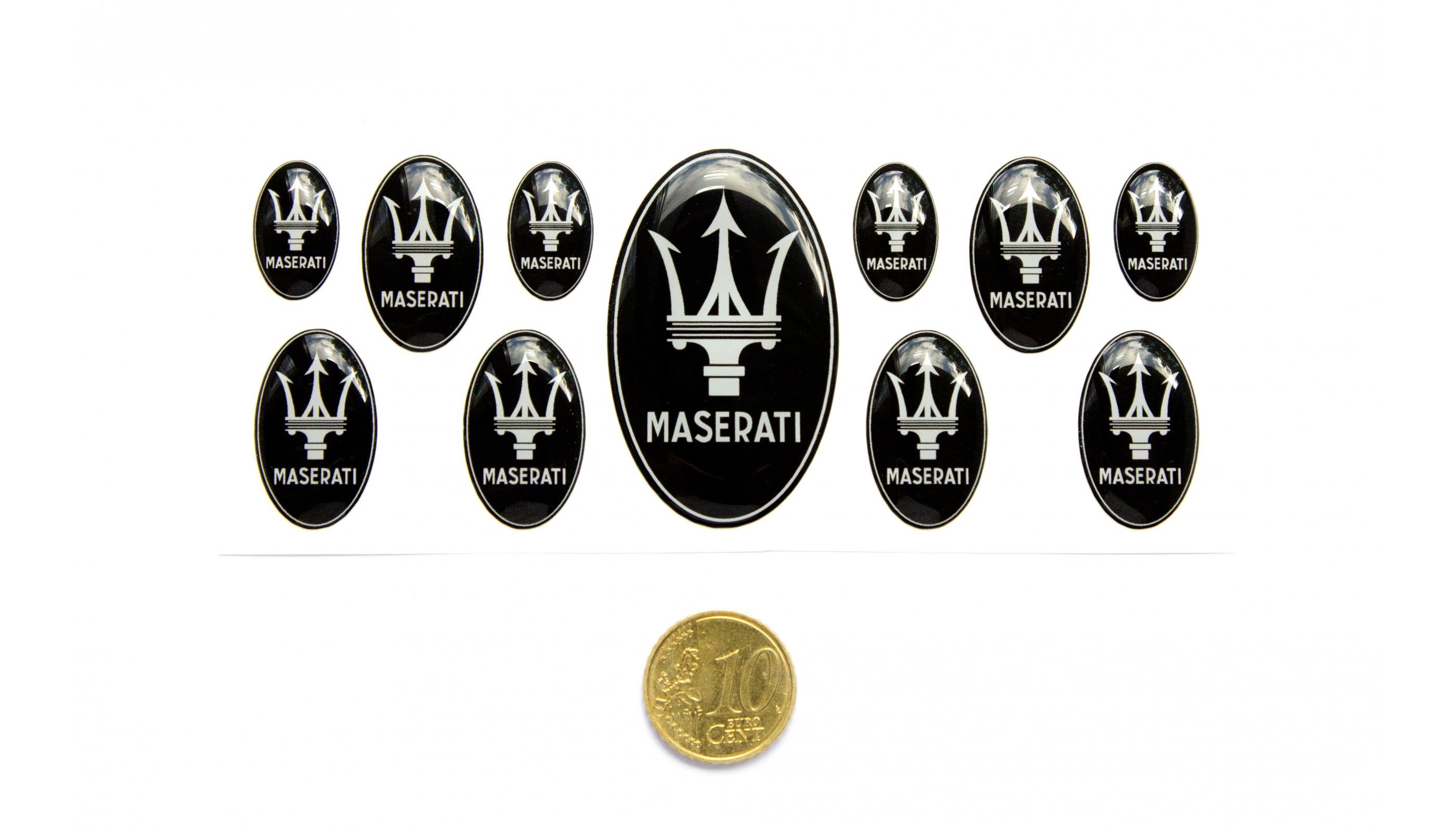 Maserati Domed Emblem Set