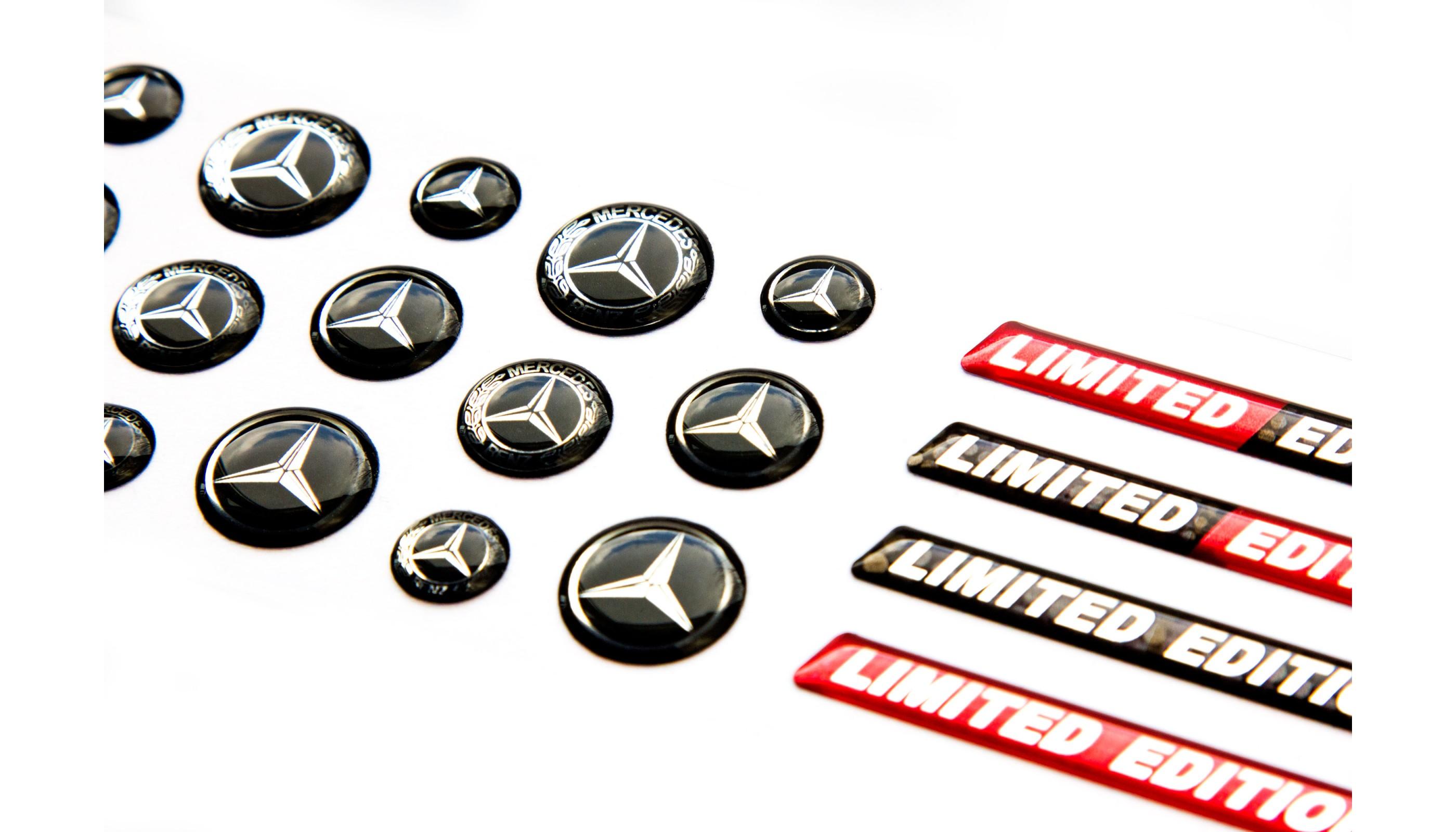 Mercedes Benz domed key fob emblems