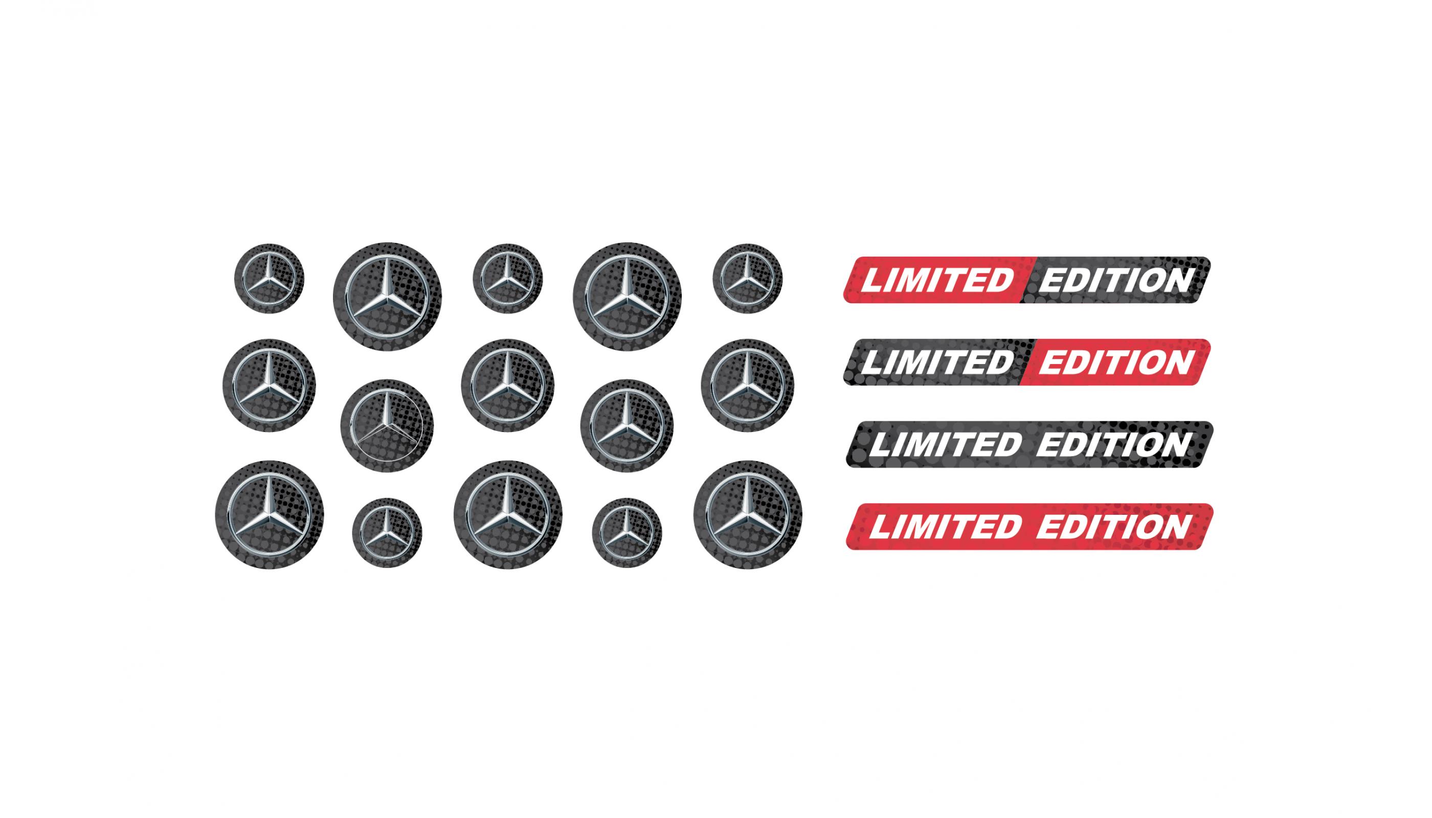 Mercedes domed key fob emblems