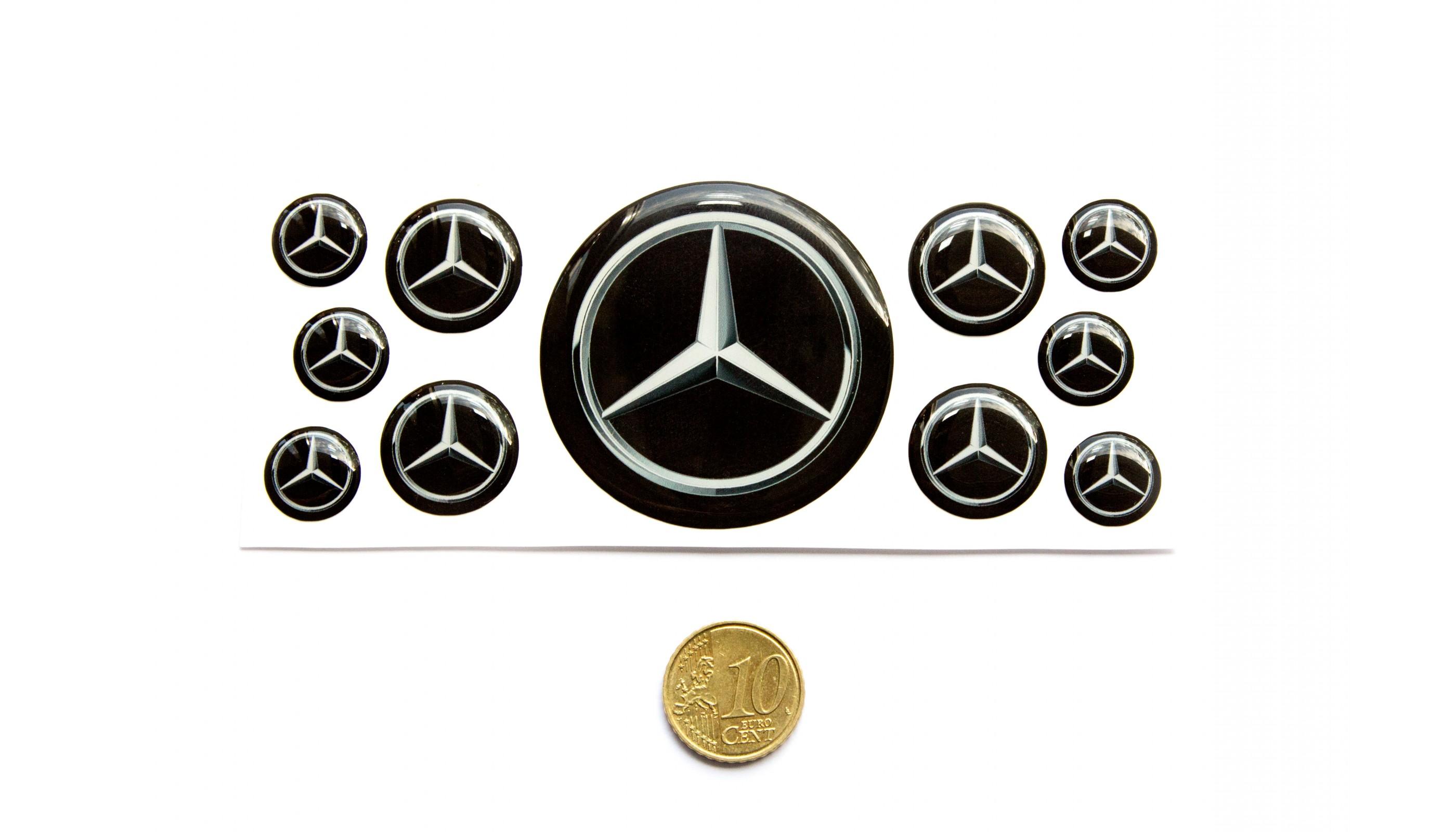 Mercedes Domed Round Emblems
