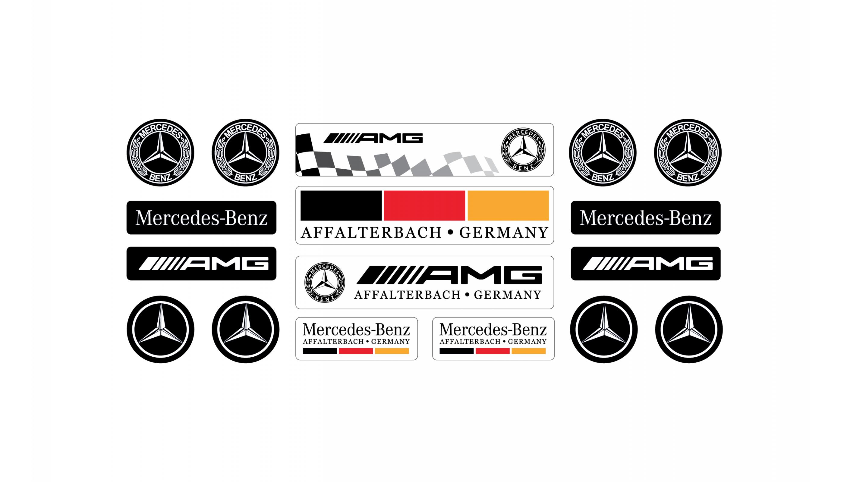 Mercedes domed white set