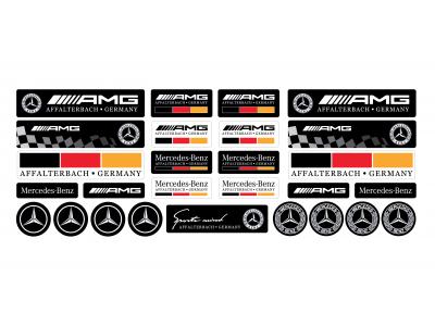 Mercedes domed emblems full