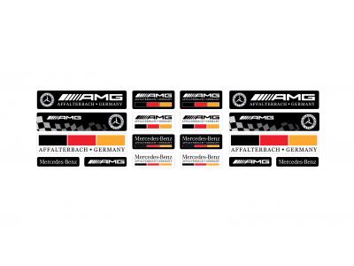Mercedes domed emblems