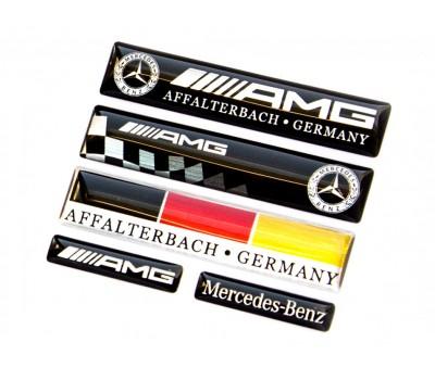 Mercedes AMG mix domed emblems
