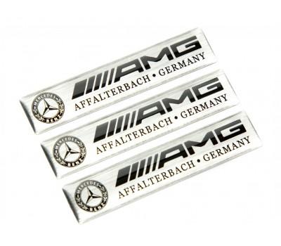 Mercedes AMG light domed emblems