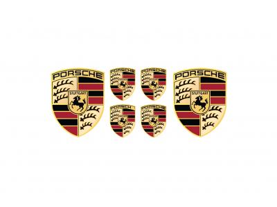 Porsche domed emblem set