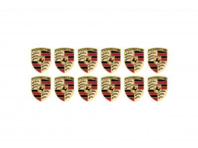 Porsche domed small shield emblems