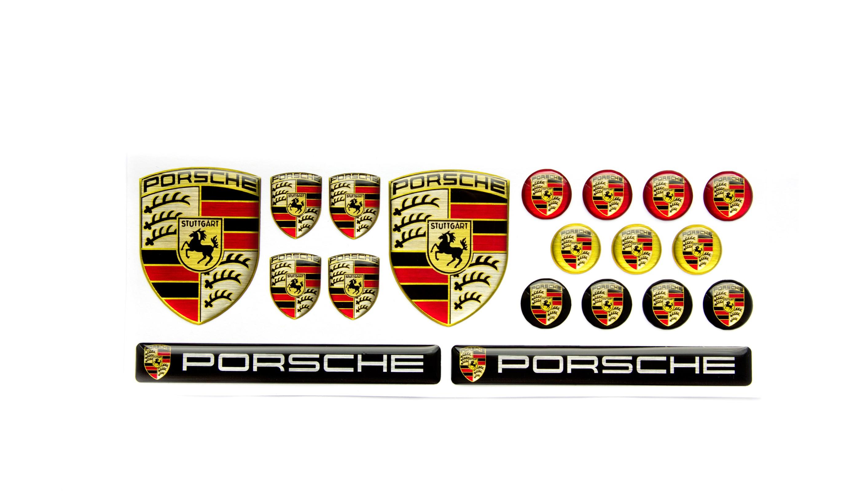 porsche emblems big set