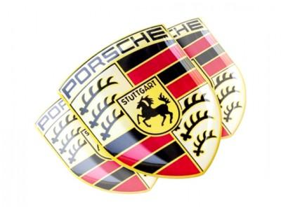 Porsche domed emblem