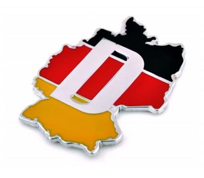 G German flag aluminium emblem