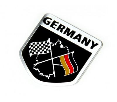Germany racing flag aluminium emblem