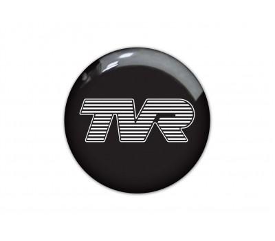TVR black domed sticker 1