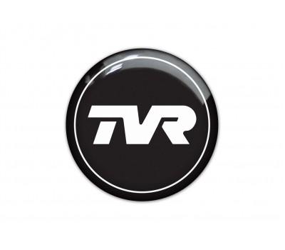 TVR black domed sticker 2