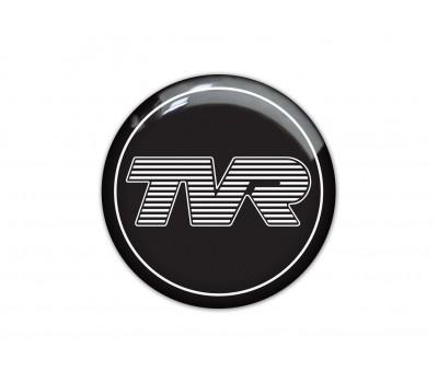 TVR black domed sticker 3