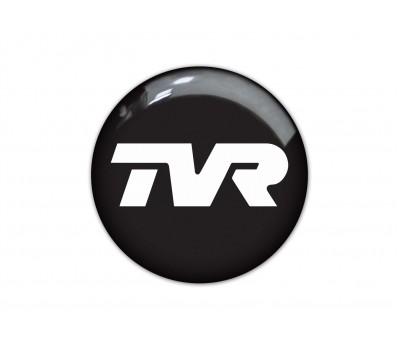 TVR black domed sticker 4