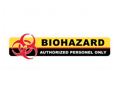 Biohazard - warning vinyl sticker