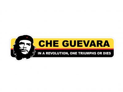 Che Guevara - warning vinyl sticker