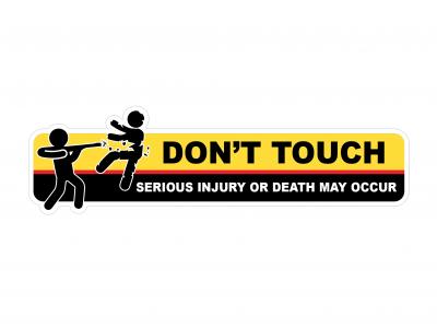 Don't Touch - warning vinyl sticker