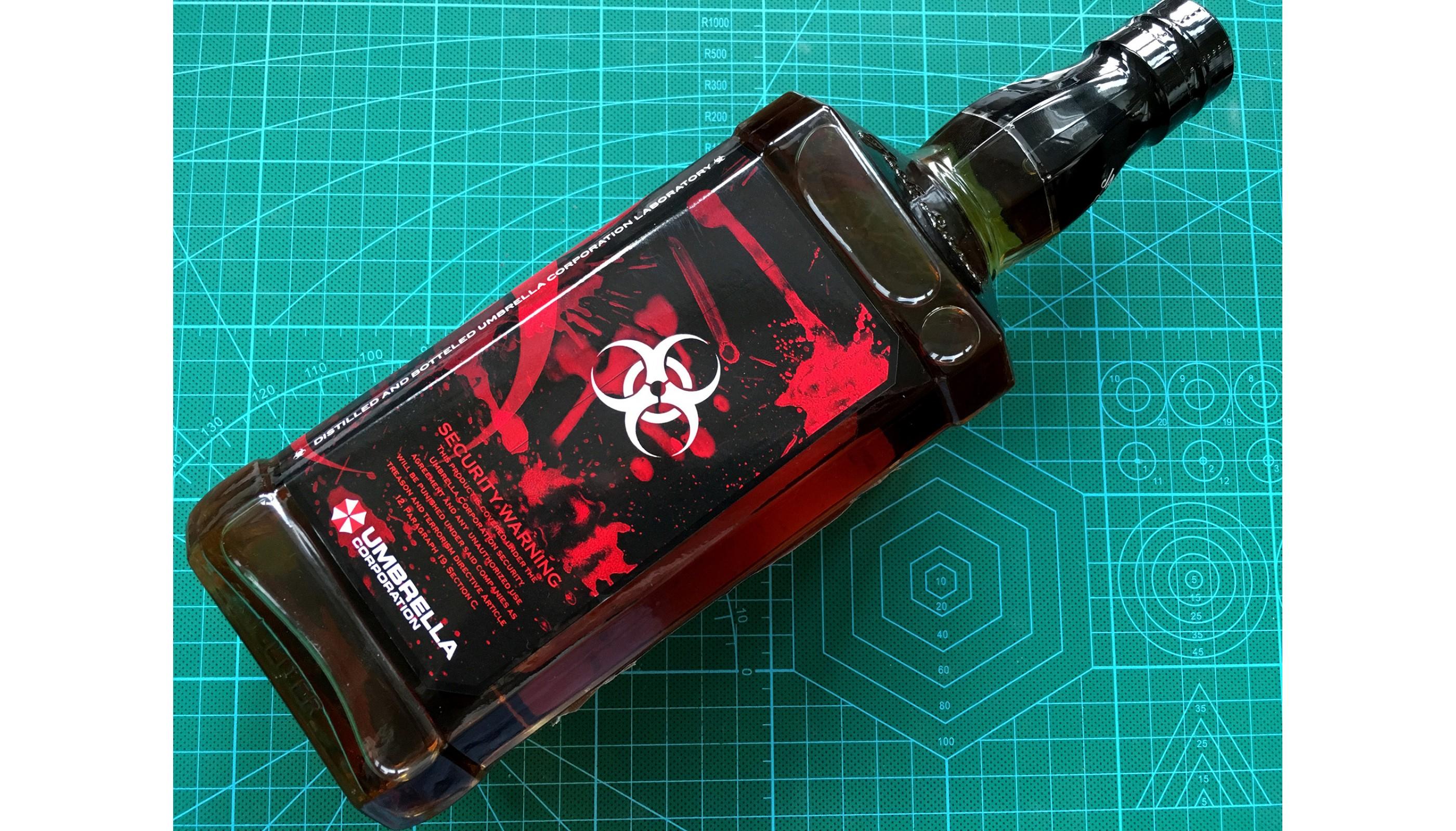 Umbrella Corporation Resident Evil Jack Daniels 1l Whiskey Bottle