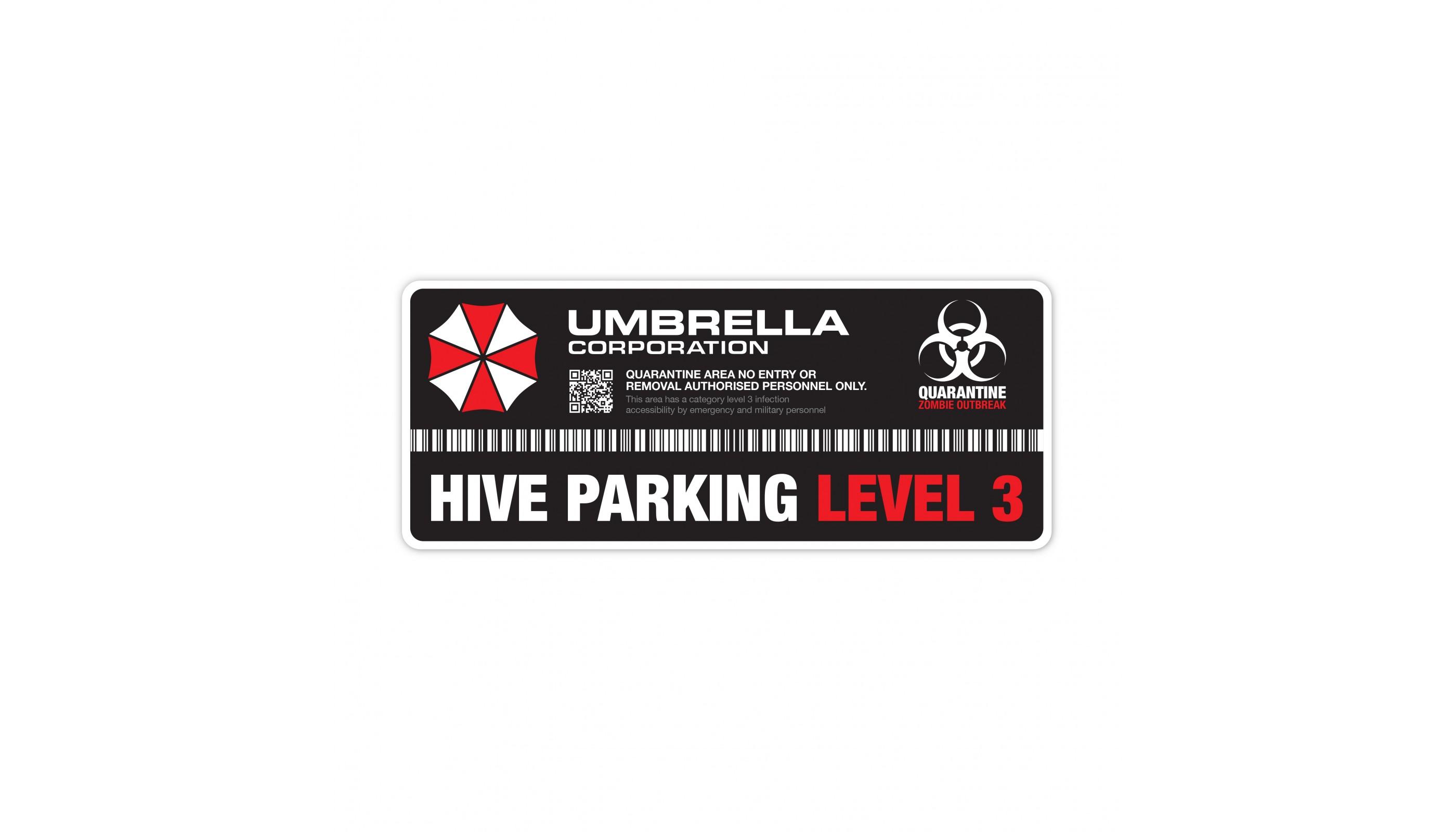 Umbrella Corp Hive Parking Level 3 Resident Evil Vinyl