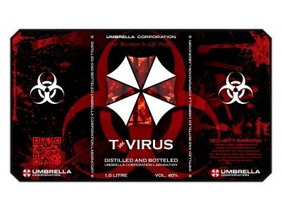 Umbrella Corporation Jack Daniels 1L Label Sticker