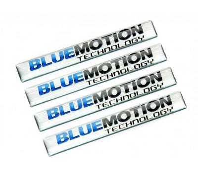 Blue Motion domed emblems