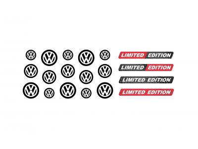 Volkswagen black domed key fob emblems