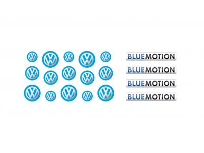 Volkswagen blue motion key fob emblems