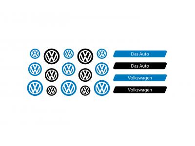 Volkswagen domed key fob emblems