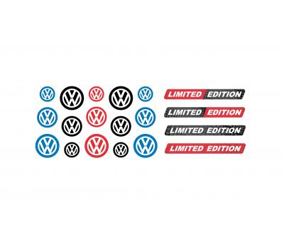 Volkswagen mix domed key fob emblems