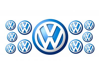 Volkswagen blue domed emblems